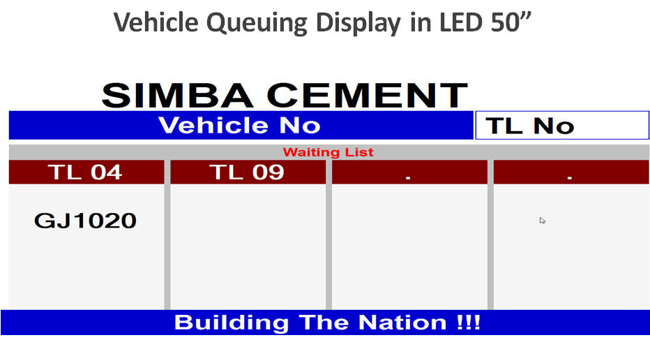 LED Display for VEhicle Bag Counter System